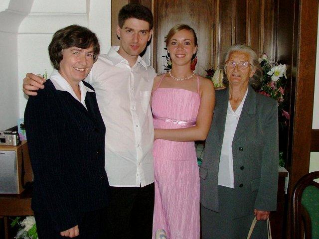 Evka{{_AND_}}Mirek - stará mama s Jarkou a my dvaja