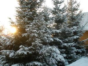 A zima je tu jihozápadní pohled z našeho domečku