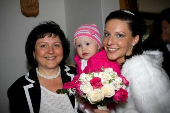 s maminkou a naší malou Gábinkou