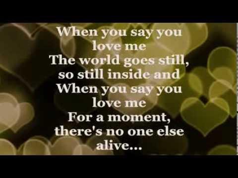 Hudba na prvý svadobný tanec - Josh Groban - When You Say You Love Me