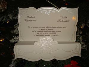 Naše svatební oznámení ... , který nám přinesl Ježíšek .)
