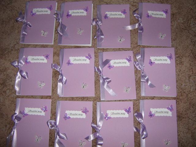 Motýlková lila - Svatební meníčka jsou na světě :)