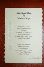Nase svatebni oznameni - vyrabeli jsme si je sami :-) Libi se vam?