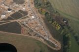letecký snímek, nová zástavba