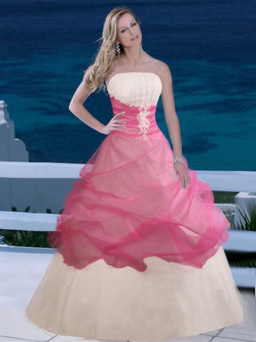 Svatební šaty - růžové i červené až do bordó - Obrázek č. 553