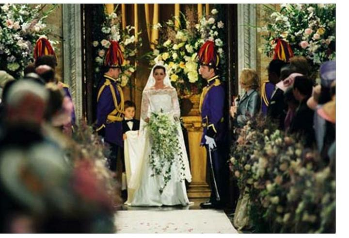 Svatby z filmů :) - Deníku princezny 2