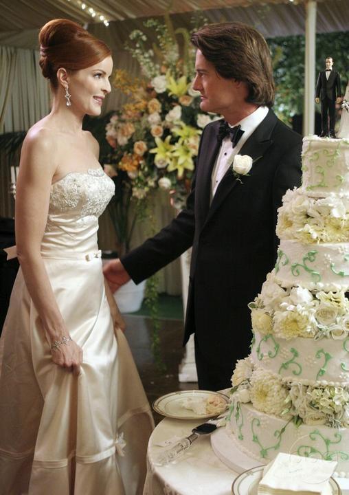 Svatby z filmů :) - Zkoufalé manželky- dort