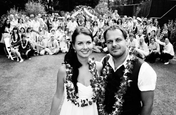 Svatby celebrit - Ondřej Ládek alias Xindl X a Monika Hujsová (2012)