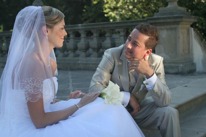 Svatby českých a slovenských osobností - Petr Bende a Zuzana Hanačíková (2.7. 2008)