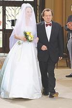 Svatby v Benátkách - nevěsta s tatínkem