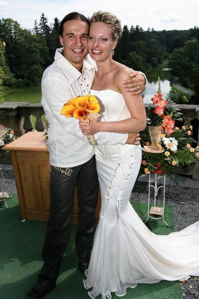 Svatby českých a slovenských osobností - Kristina Kloubková & Alan Bastien- 24.srpna 2007
