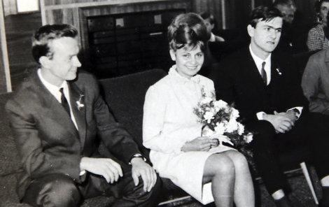 Svatby českých a slovenských osobností - Karel Vágner a Hana Hachová 1966