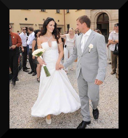 Svatby českých a slovenských osobností - Lucie Váchová & David Křížek 7. srpna 2009