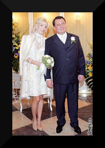 Svatby českých a slovenských osobností - Jiří Paroubek & Petra Kováčová- 17. listopadu 2007