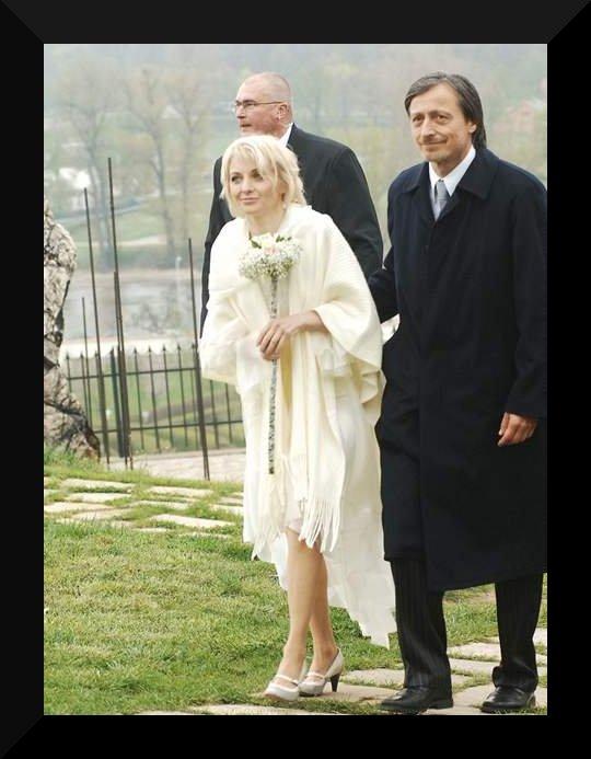 Svatby českých a slovenských osobností - Veronika Žilková & Martin Stropnický- 19. dubna 2008 v Praze Troji