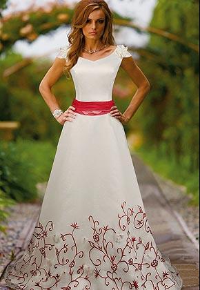 Svatební šaty - růžové i červené až do bordó - Obrázek č. 3