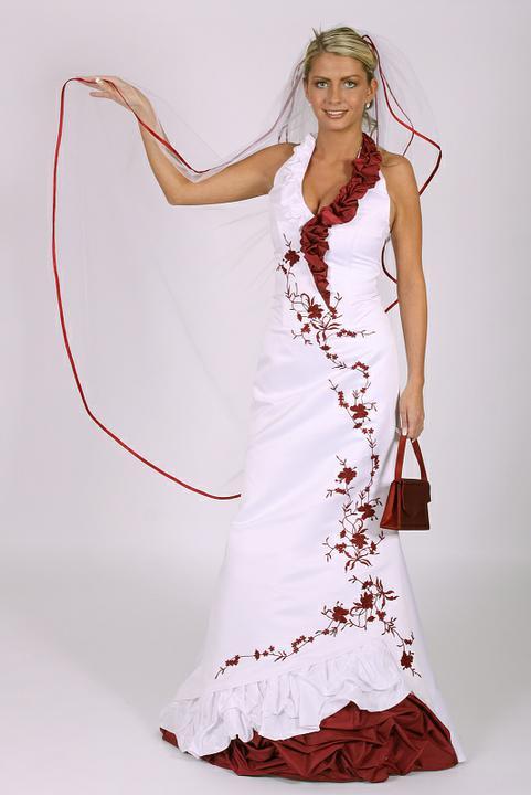 Svatební šaty - růžové i červené až do bordó - Obrázek č. 40