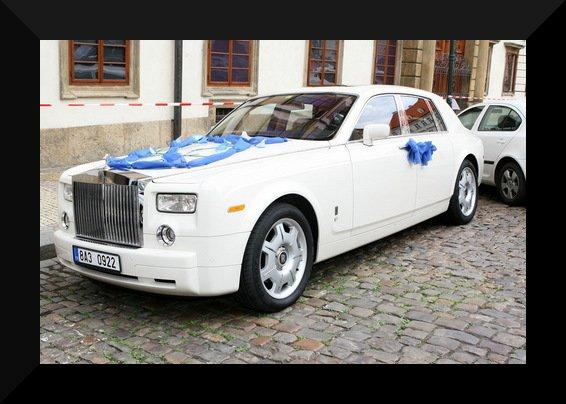 Svatby českých a slovenských osobností - Petra Faltýnová & Simon Štěkl jejich auto-20.8. 2008