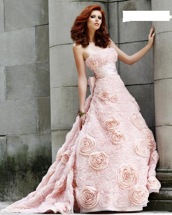 Svatební šaty - růžové i červené až do bordó - Obrázek č. 528
