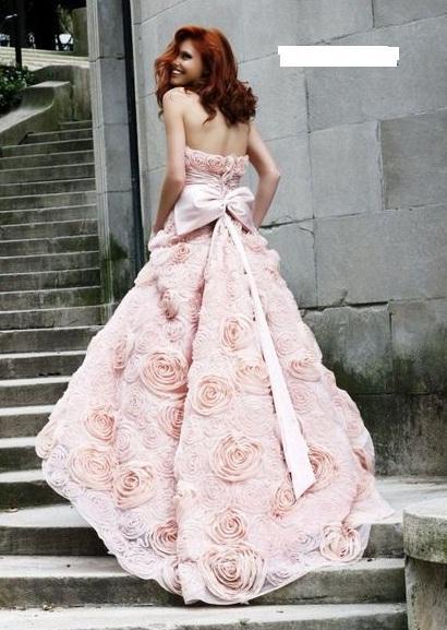 Svatební šaty - růžové i červené až do bordó - Obrázek č. 529