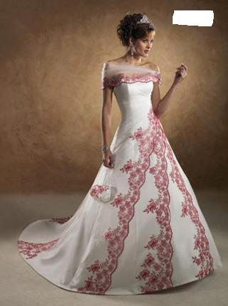 Svatební šaty - růžové i červené až do bordó - Obrázek č. 27