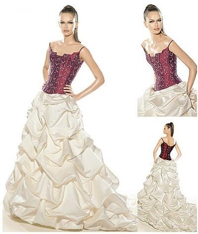 Svatební šaty - růžové i červené až do bordó - Obrázek č. 14