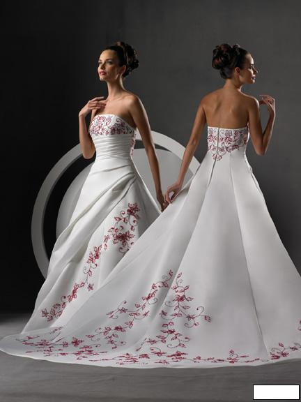 Svatební šaty - růžové i červené až do bordó - Obrázek č. 48