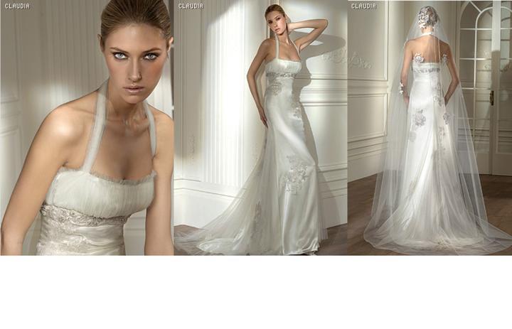 Inspiracie - svadobne saty - Pronovias 2008 - Claudia - super vintage styl. chcelo by to este celenku alebo korunku a mozno by som volila zavoj bez cipky