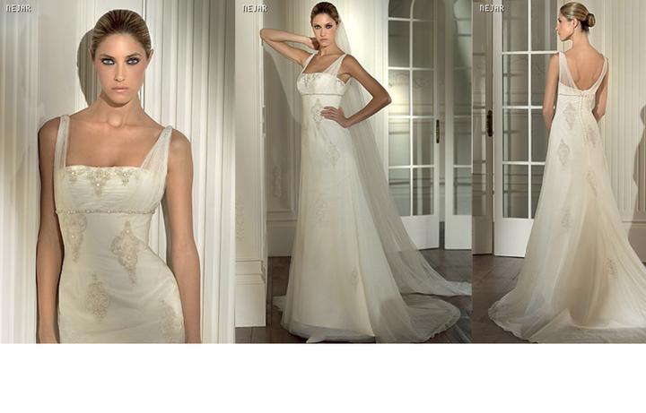 Inspiracie - svadobne saty - Pronovias 2008 - Nejar - indicko - vintage styl. viem si k tomu predstavit henu na rukach s kopou trblietavych tenkych naramkov a ozdobu na cele