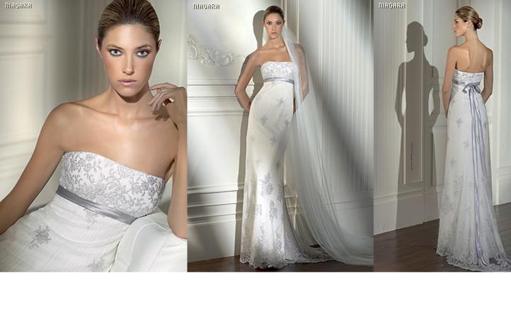 Inspiracie - svadobne saty - Pronovias 2008 - Niagara - tieto su uzasne, skoda, ze by mi na prsiach robili skarede zarezy. uz len kozusinovu stolu, k tomu tiaru do vlasov a zimna kralovna je hotova :)