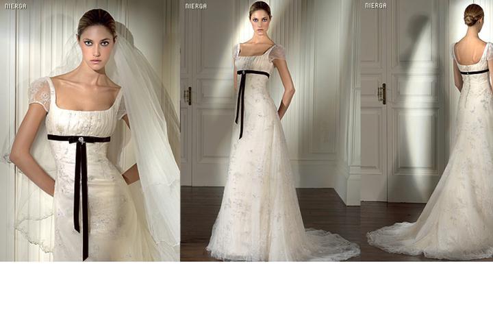 Inspiracie - svadobne saty - Pronovias 2008 - Nierga - tieto mi evokuju anglicke vidiecke sidlo, velmi jemne a dievcenske