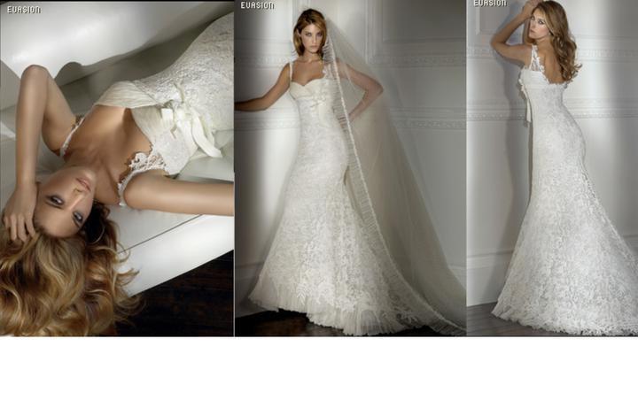 Inspiracie - svadobne saty - Pronovias 2007 - Evasion - top ma dostal - dekolt a cipka na ramienkach su super