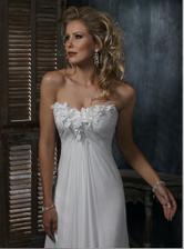 Maggie Sottero - Carmella A - satky na letnu svadbu na luke alebo plazi. len ta modelka je strasna....