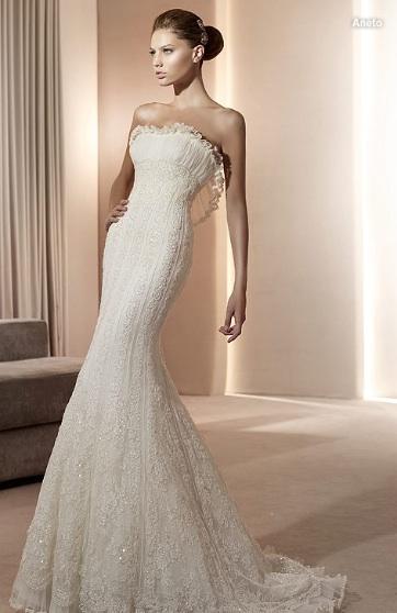 Inspiracie - svadobne saty - Pronovias 2011 - Costura collection - Aneto A - ani neviem preco, ale ta zaclonka sa mi nejak zapacila