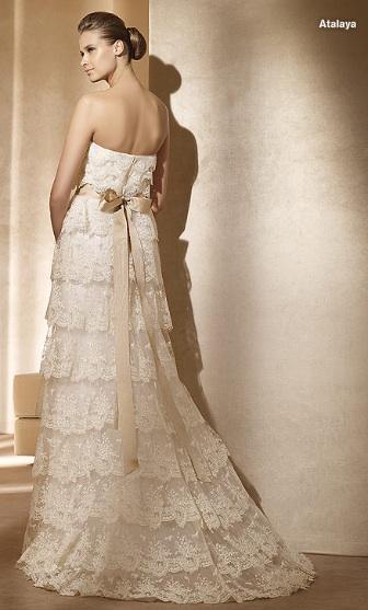Inspiracie - svadobne saty - Pronovias 2011 - Costura collection - Atalaya B