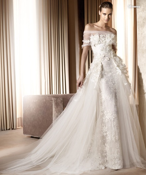 Inspiracie - svadobne saty - Ellie Saab for Pronovias 2011 - Minerva A - to iste, to uz sa aj bojim nazvat svadobnymi satami, to uz je haute couture :)