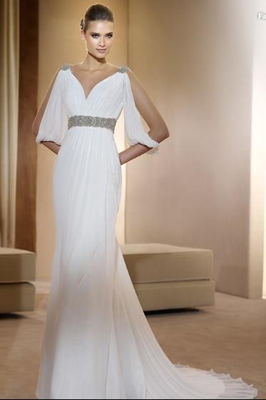 Inspiracie - svadobne saty - Pronovias 2011 - Fashion collection - Famosa A - dalsie super popolnocky, tiez zjavne inspirovane Greckom, ale uz viac princeznovske, uz len korunku