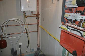 Příprava pro plynovou přípojku do technické místnosti, abychom případně do budoucna nemuseli rozebírat fasádu