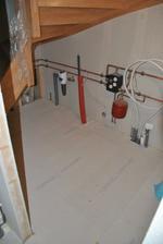 Podlaha v technické místnosti