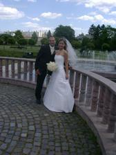 V parku pri fontáne