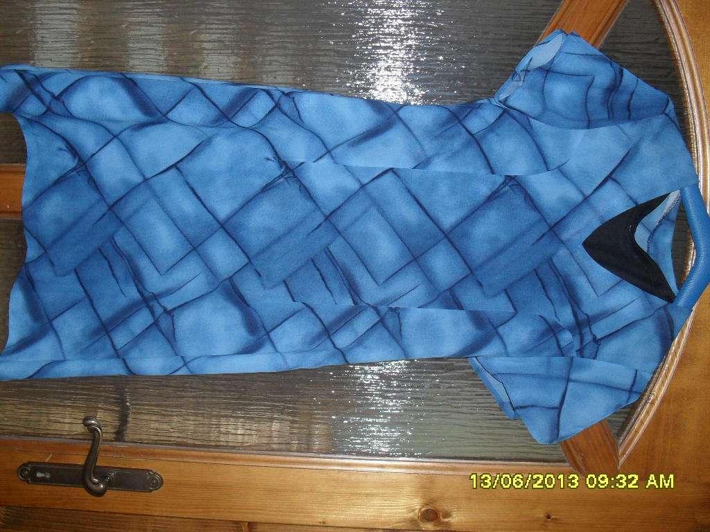 krátke modré šaty  - Obrázok č. 1