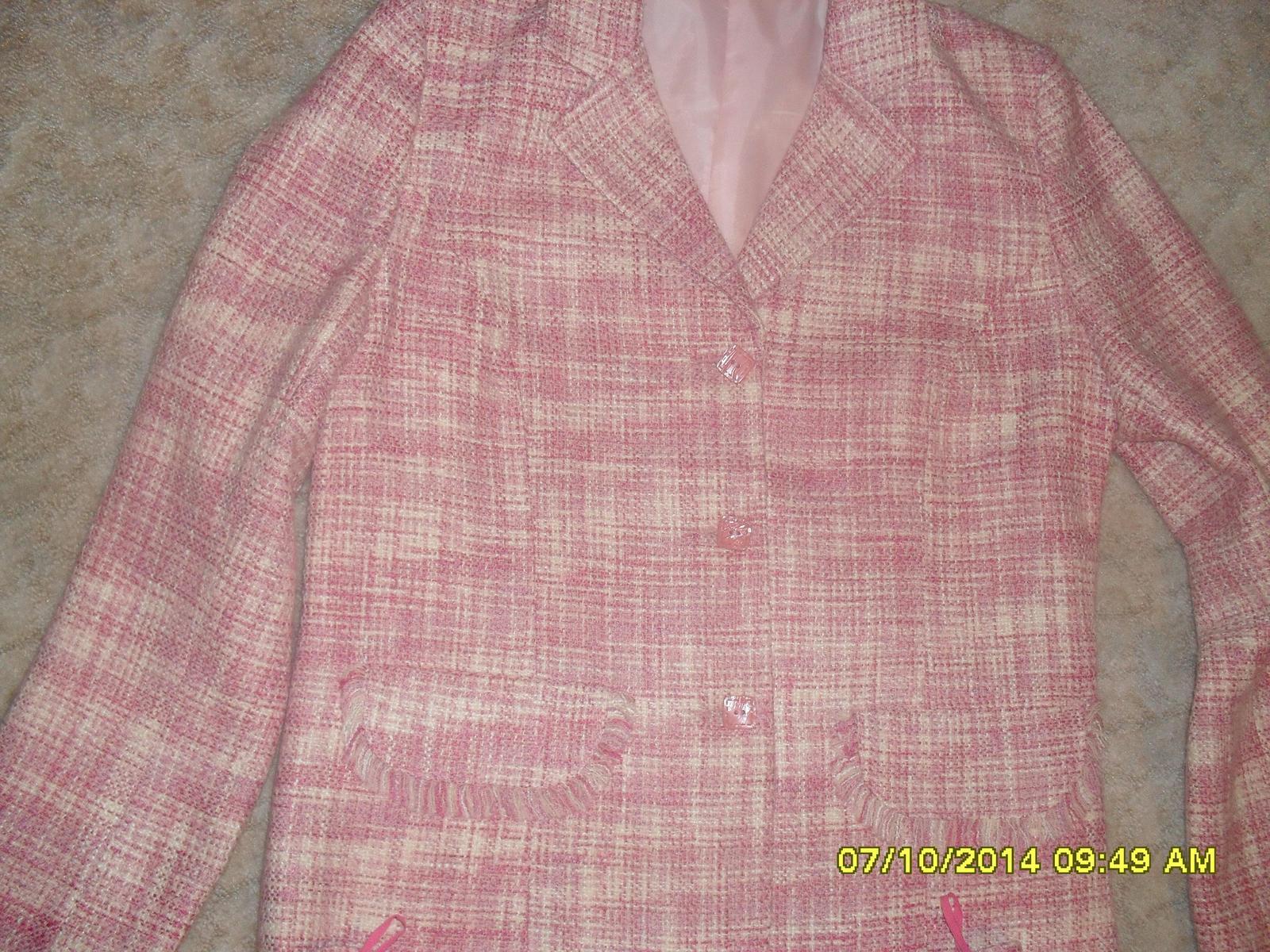 Ružové sako+ sukňa - Obrázok č. 1