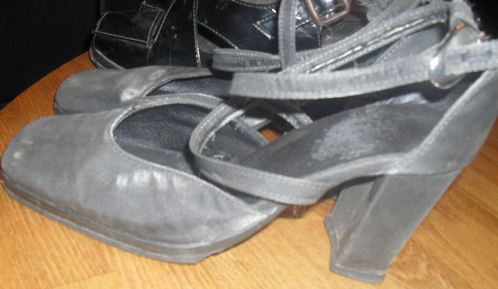 tmavostrieborné sandále 38 - Obrázok č. 1