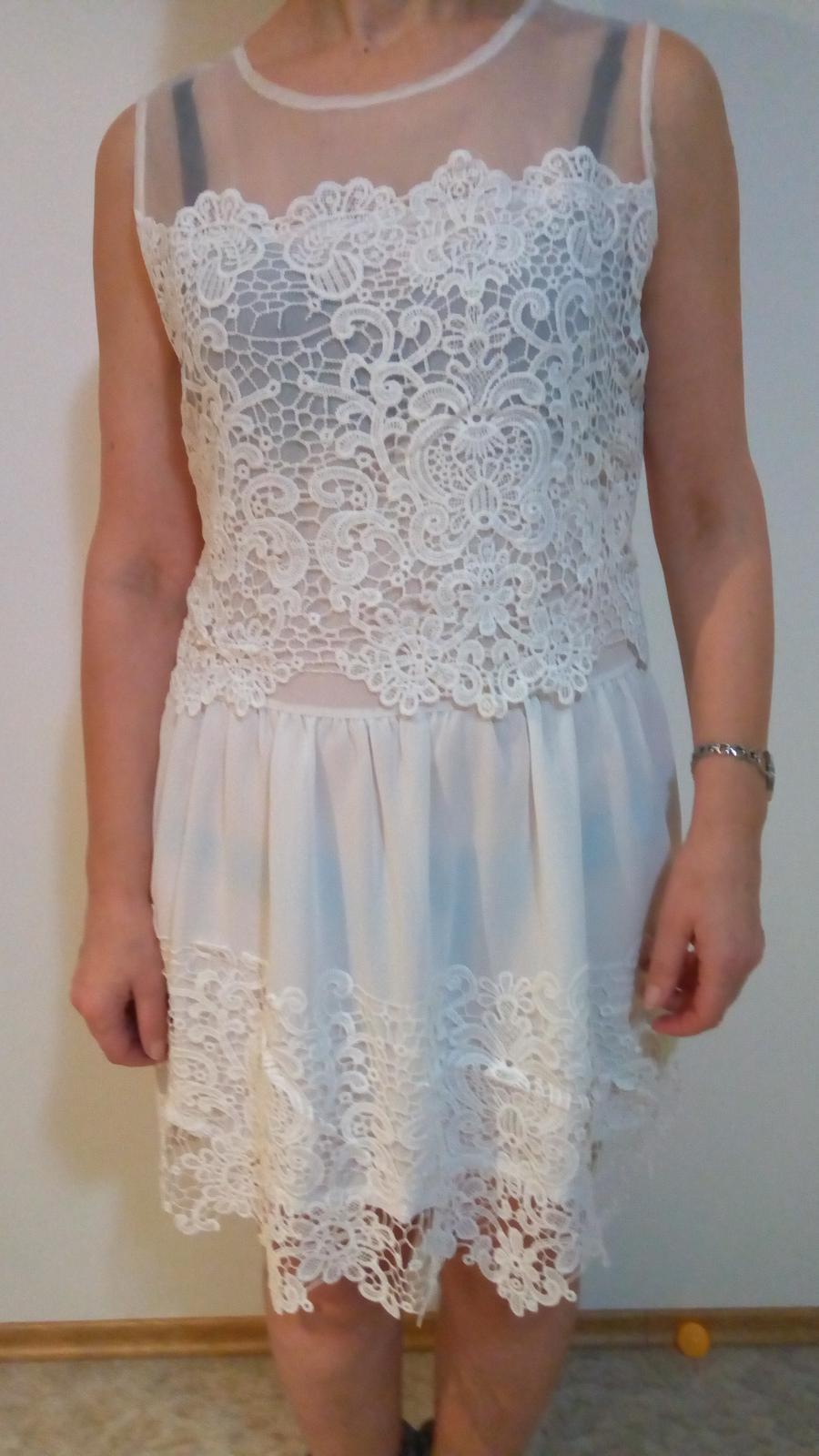 biele šaty M - Obrázok č. 1