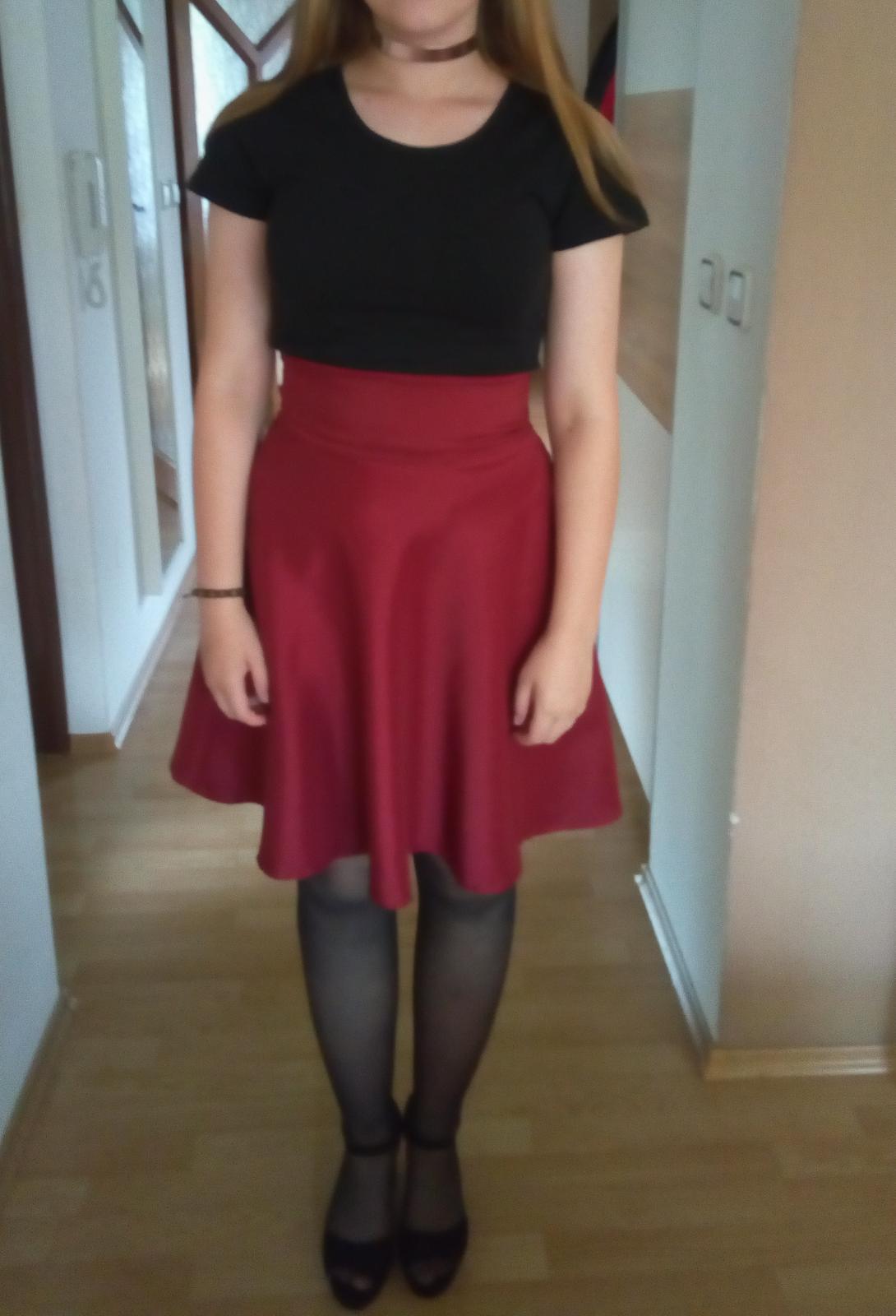 bordová sukňa M - Obrázok č. 1