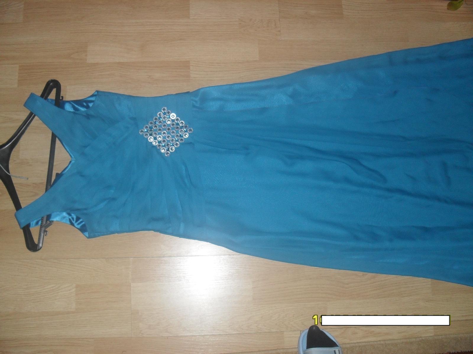 petrolejové šaty M - Obrázok č. 2