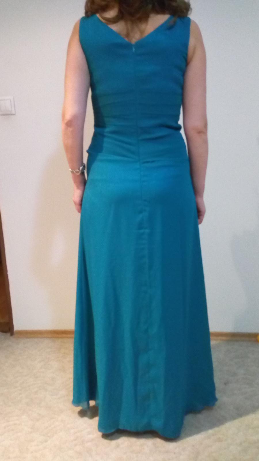 petrolejové šaty M - Obrázok č. 3