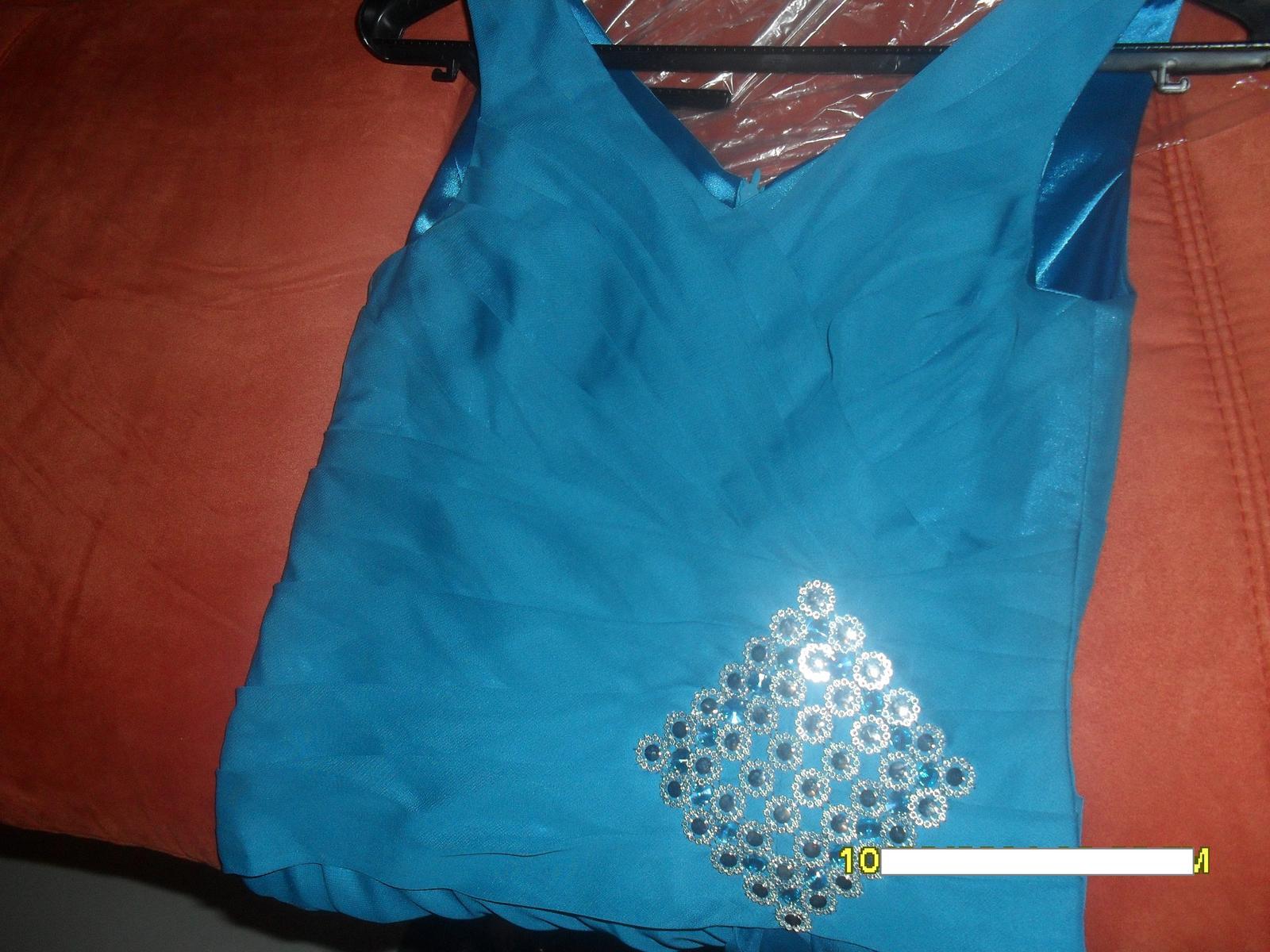 petrolejové šaty M - Obrázok č. 4
