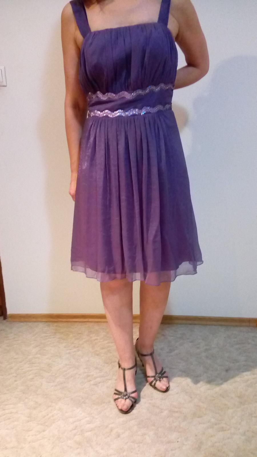 fialové šaty L-XL - Obrázok č. 1