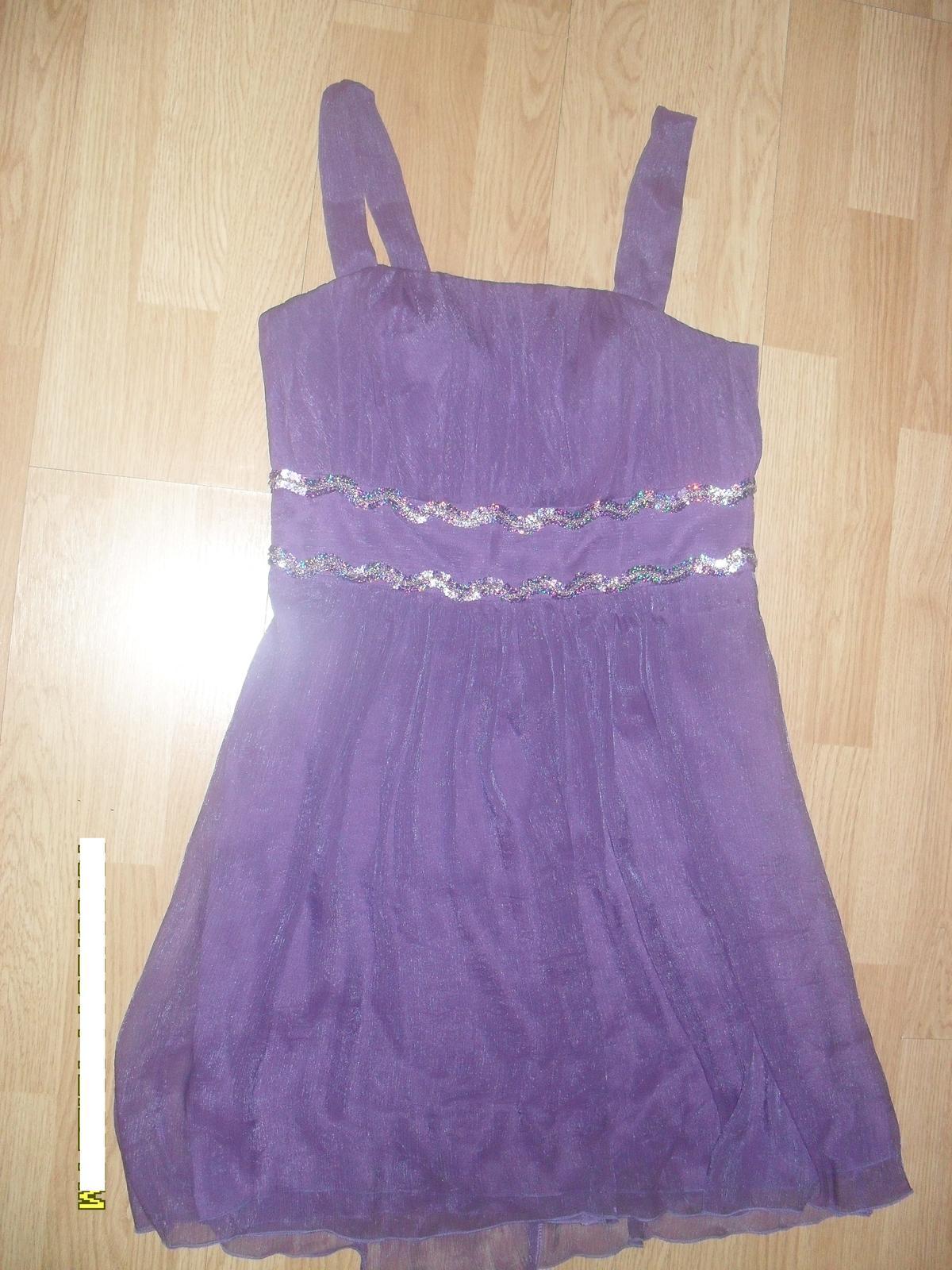 fialové šaty L-XL - Obrázok č. 3